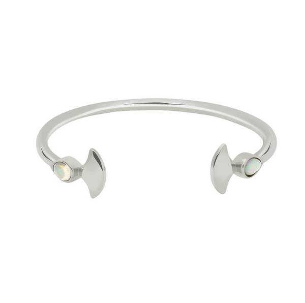 SILVER MERMAID OPAL CUFF