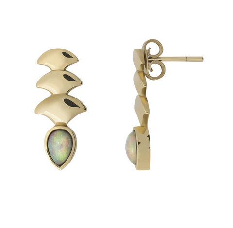 GOLD MERMAID DROP OPAL EARRINGS