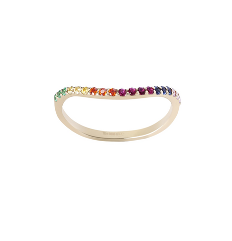 RAINBOW MULTICOLOR GOLD RING