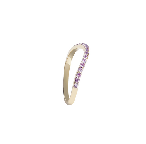 PURPLE STONES GOLD RING RAINBOW