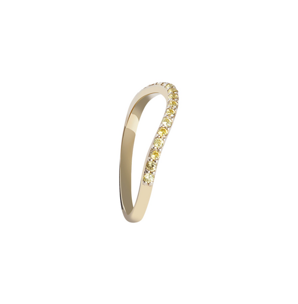 YELLOW STONES GOLD RING