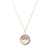 MAGIC RAINBOW GOLD NECKLACE