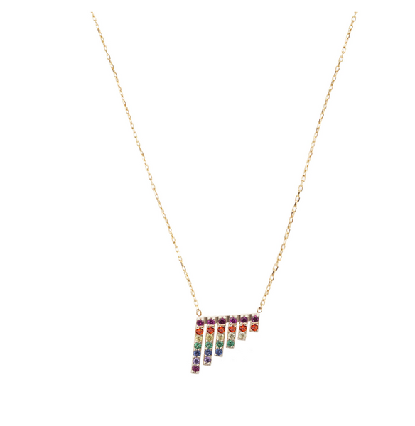 RAINBOW WATERFALL GOLD NECKLACE