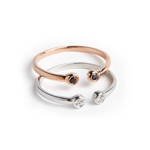 TWOSTONE RING (3 COLORS)