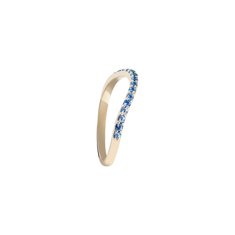 BLUE STONES GOLD RING RAINBOW