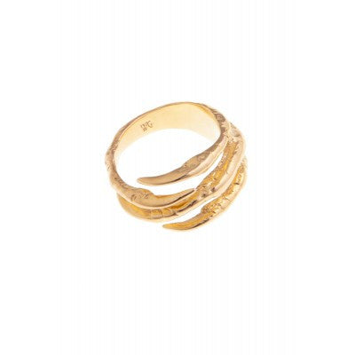 GOLD BIRD CLAW RING