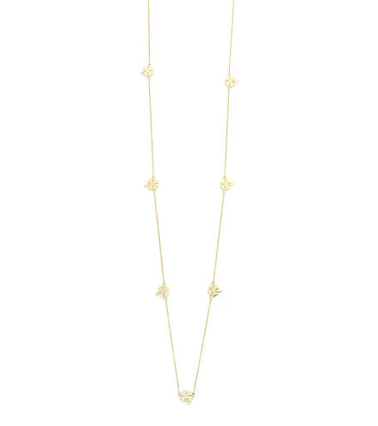 CLOVER LONG  NECKLACE (3 COLORS)