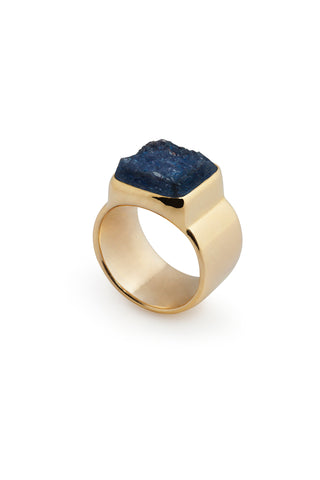 GOLD CRYSTALLISE ONYX RING