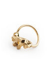 GOLD CRYSTALLISE SQUARE RING