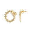 GOLD FISHBONE EARRINGS