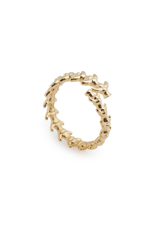 GOLD FISHBONE RING