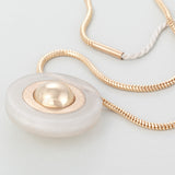 KIN BOLA PREGNANCY NECKLACE FROSTED WHITE