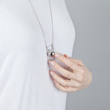 U BOLA NECKLACE WHITE GOLD PLATED