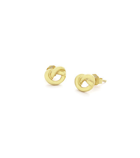 LOVE KNOT GOLD PLATED STUDS