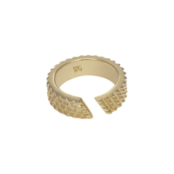 GOLD SPIKY NUT RING