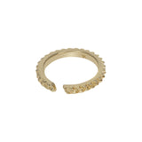 GOLD SKINNY SPIKY NUT RING