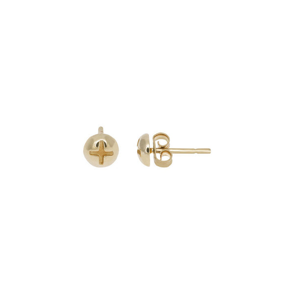 GOLD BOLD STUD EARRINGS