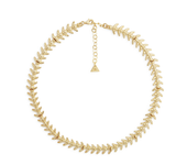 GOLD FISHBONE NECKLACE