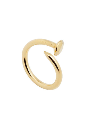 GOLD NAIL RING FACETED