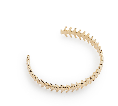 GOLD FISHBONE CUFF