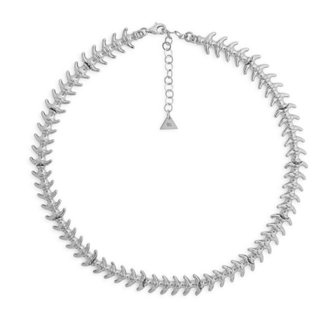 SILVER FISHBONE NECKLACE