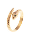GOLD EMERALD SNAKE RING