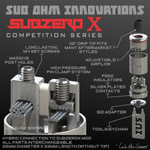 SubZeroX Competition RDA by Sub Ohm Innovations