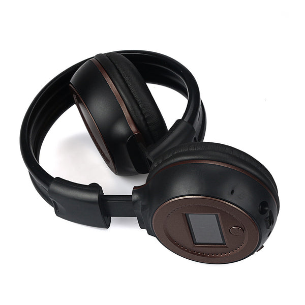 """No strings attached"" Wireless Headphones With Call Mic"