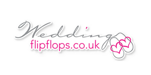 wedding flip flops logo