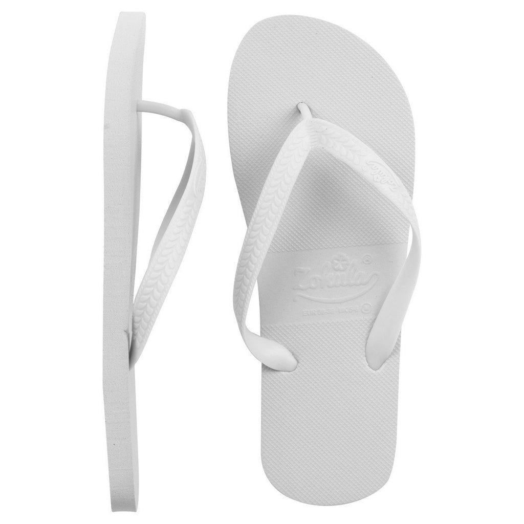 8e88c793b46c51 ... Zohula   White   Originals Party Pack - 20 Pairs - Wedding Flip Flops  ...