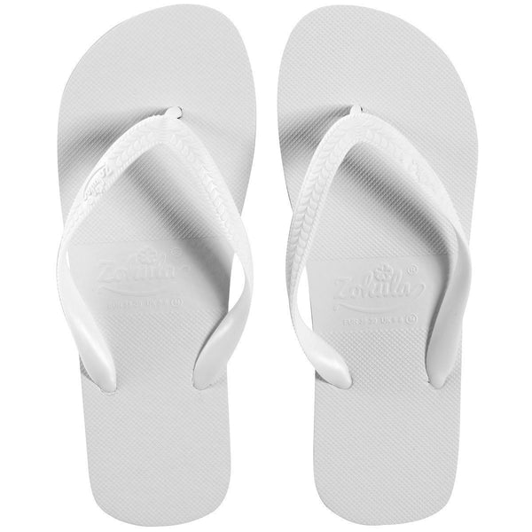 Zohula * White * Originals Party Pack - 20 Pairs - Wedding Flip Flops