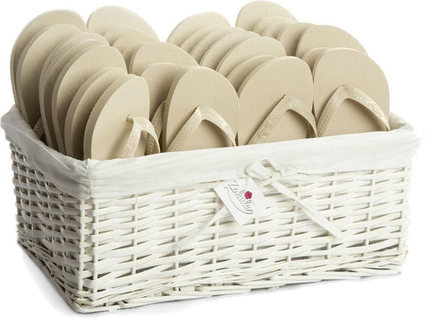 Zohula * Cream * Originals Party Pack - 20 Pairs - Wedding Flip Flops