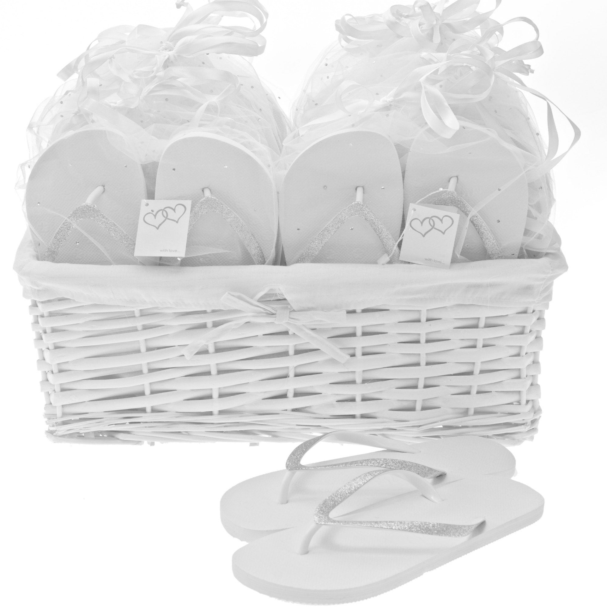 glitz wedding flip flops basket