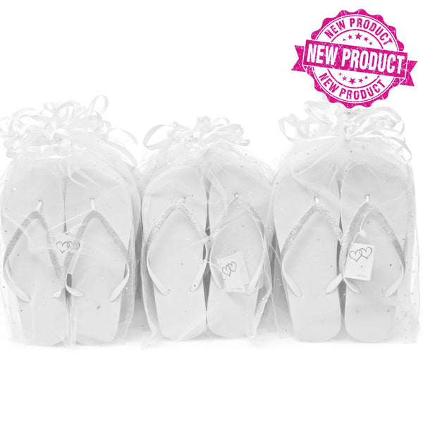 bulk buy flip flops for weddings in basket