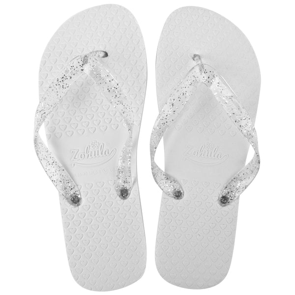 zohula white wedding flip flops