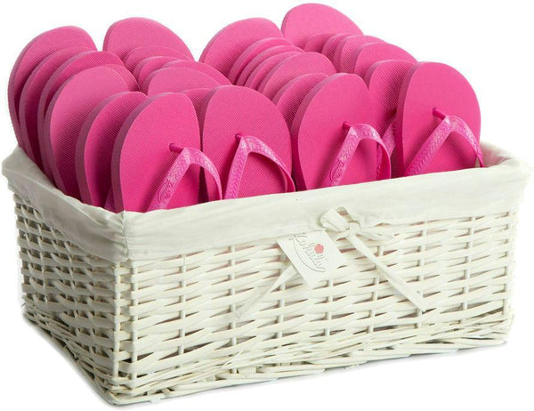 Zohula * Hot Pink * Originals Party Pack - 20 Pairs - Wedding Flip Flops