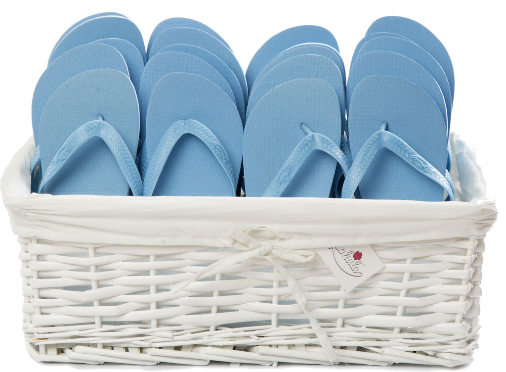 b060aff64a177e ... Zohula   Sky Blue   Originals Party Pack - 20 Pairs - Wedding Flip Flops  ...