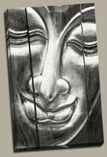 Framed Canvas Printed Buddha face Meditation Painting