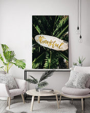 Thankful Tropical Plant Canvas Stretched Framed Printed abstract print