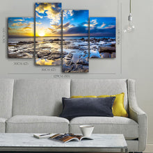 Framed canvas prints seascape print canvas Sunrise beach canvas time-lapse ocean