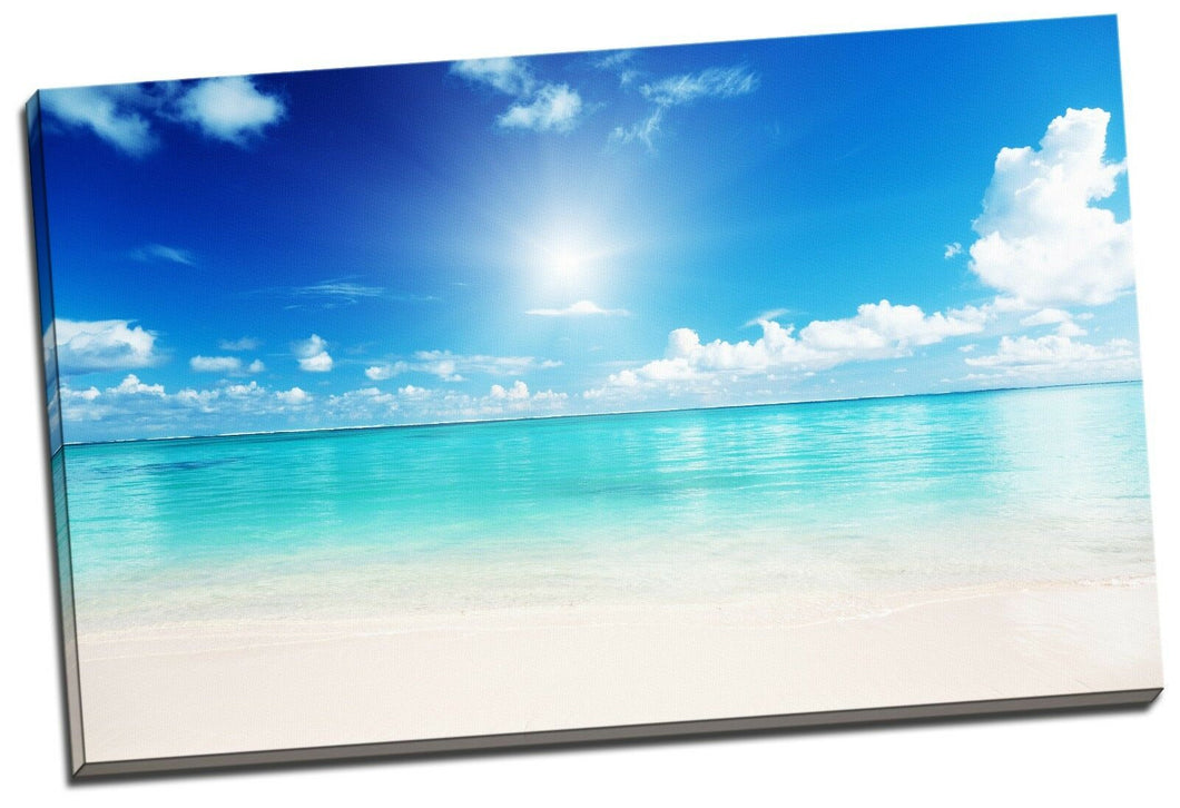 80x50x3cm Framed Canvas Prints Ocean Sea Time Lapse Photo Big Wall Art