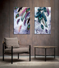 Colourful Peacock Feather Framed Canvas Print Abstract Living Room Wall