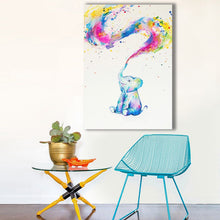 Colorful Baby Elephant Framed Canvas Prints Wall Art Home Decor Framed Painting