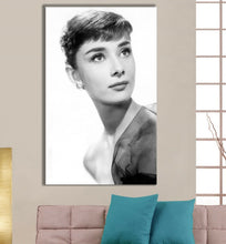Audrey Hepburn Stretched Canvas Print Framed Wall Art Fashion Shop Decor Gift