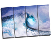 Framed canvas prints sea wave Split canvas ocean spray view large print