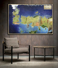 Game of Thrones Westeros Essos World Map Framed Canvas Print Big Size