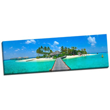 Maldives Sea Beach Bridge Coral Tropical Landscape FRAMED CANVAS PRINT