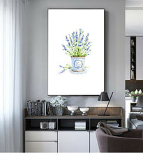 Lavender Flower Watercolour Framed Canvas Prints Modern Wall Art Home Decor