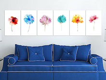 6 Designs Watercolor Flowers Framed Canvas Prints Modern Wall Art Print