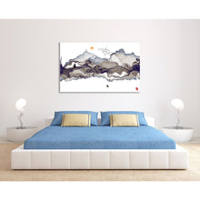 Oriental Chinese Asian Abstract Mountain River Canvas Wall art Picture Print